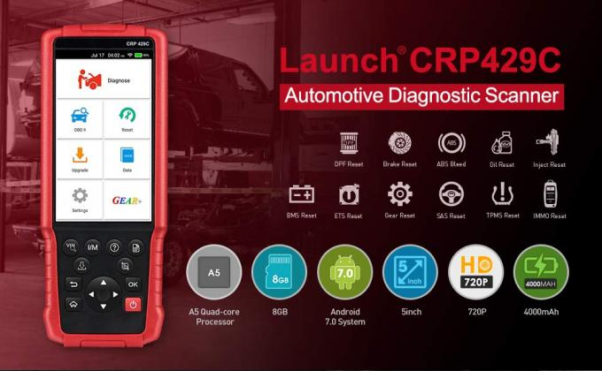 Codeleser-Selbstdiagnose-tool PRODUKTEINFÜHRUNG X431 CRP429C CRP 429C OBD2 für Engine/ABS/SRS/AT