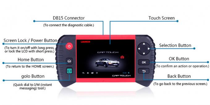 "Note Pro-5,0"" des Produkteinführung Creader-Auto-Diagnose- Scanner-CRP Android-Touch Screen volles System"