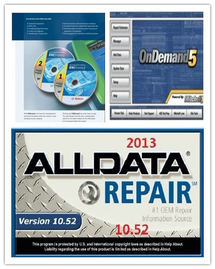 Selbstbewegende Diagnose-Software ALLdata10.52+OnDemand5.8 + BOSCH ...